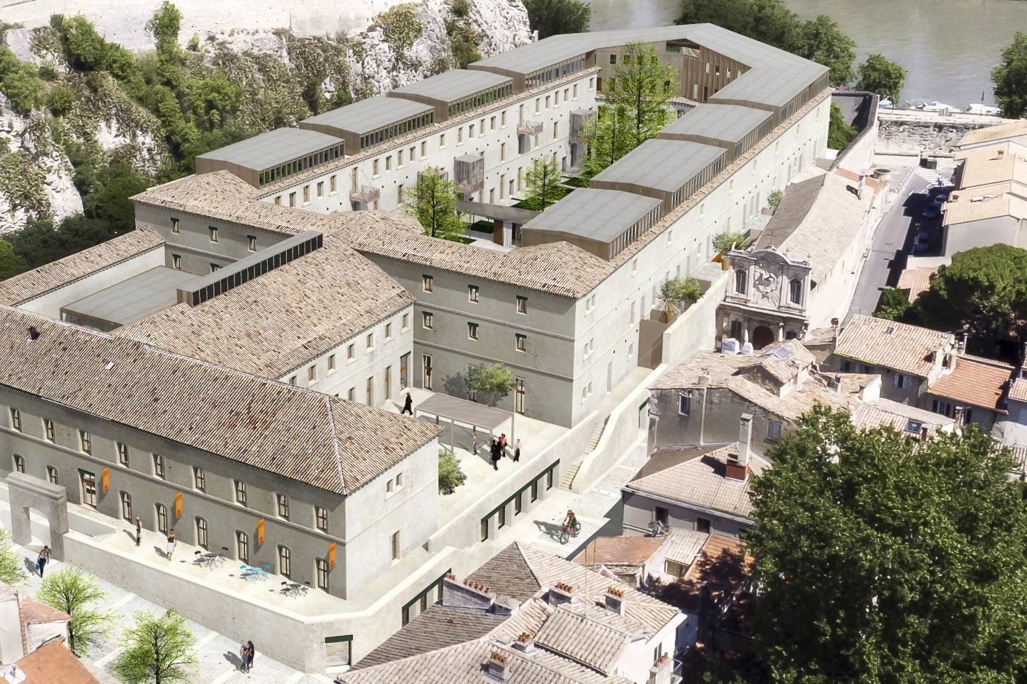 Reconversion de la prison sainte anne avignon vaucluse for Reconversion architecte