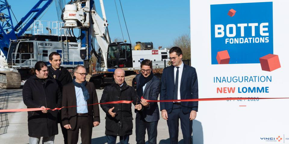 Inauguration du nouveau centre technique Botte Fondations de Lomme