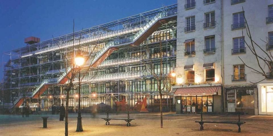 1973 - 1976 : construction du centre Beaubourg (75)